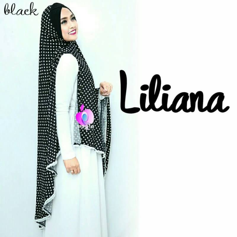 Liliana Khimar Syar'i by Apple Hijab black