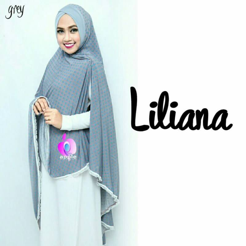 Liliana Khimar Syar'i by Apple Hijab grey