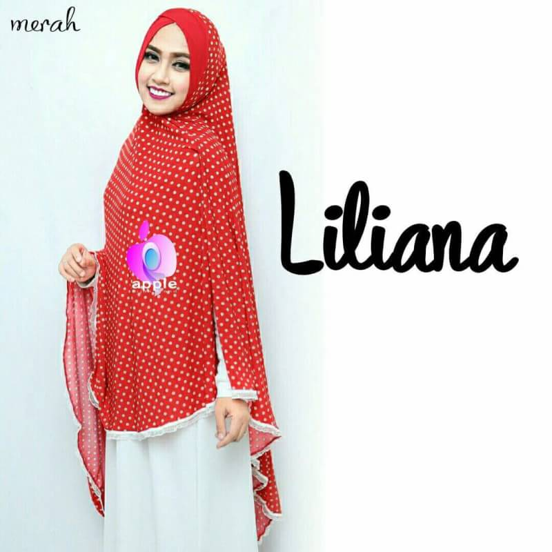 Liliana Khimar Syar'i by Apple Hijab merah