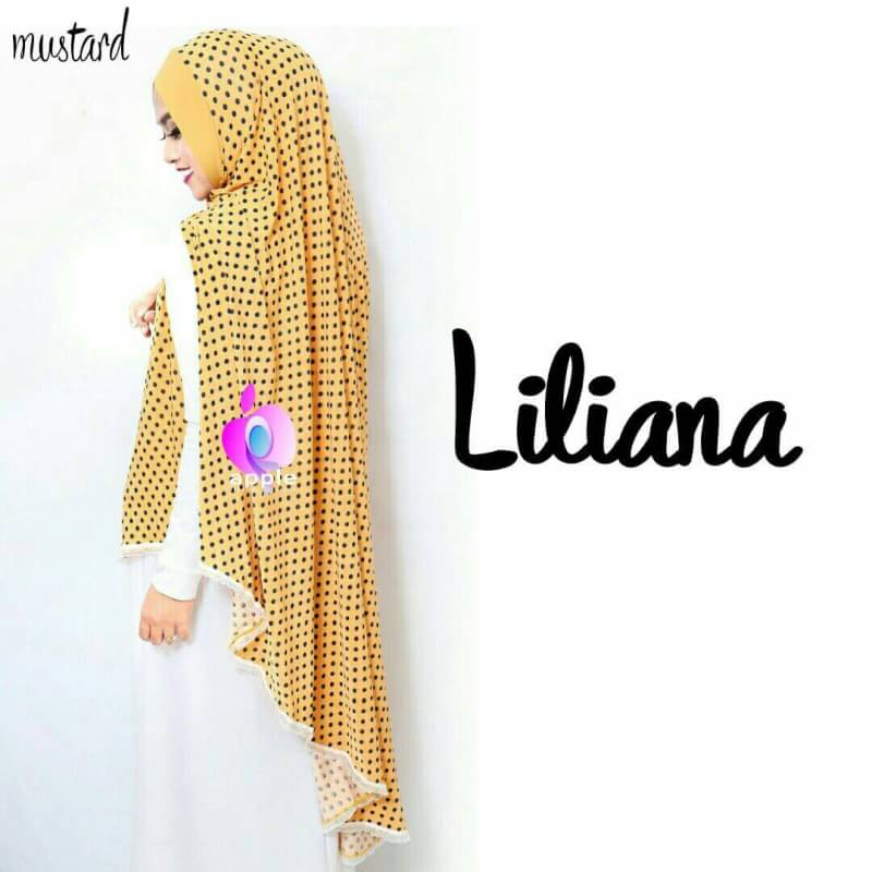 Liliana Khimar Syar'i by Apple Hijab mustard