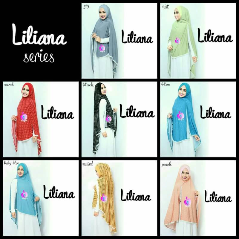 Liliana Khimar Syar'i by Apple Hijab seri warna