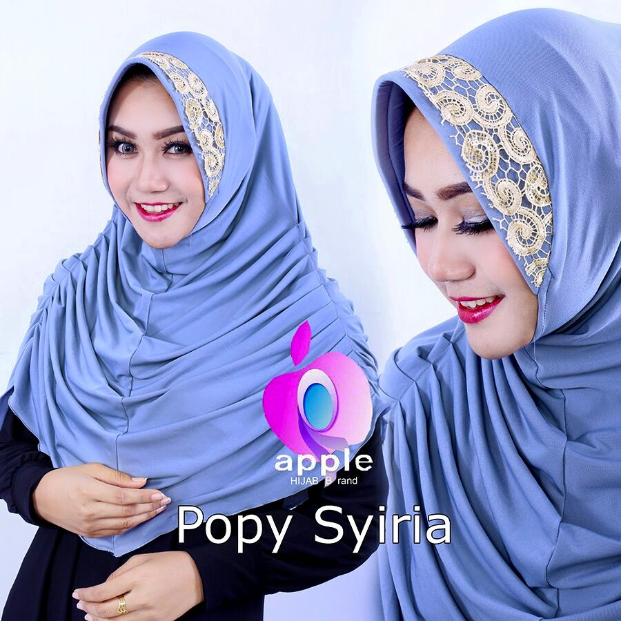 Popy Syiria by Apple hijab biru