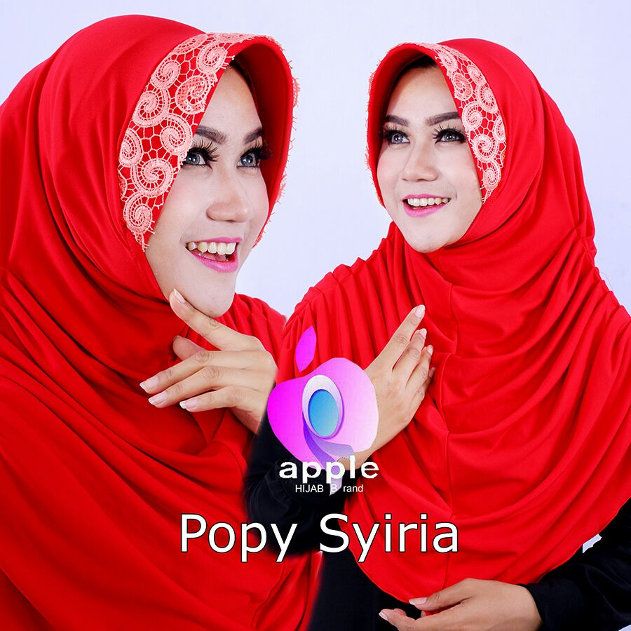 Popy Syiria by Apple hijab merah