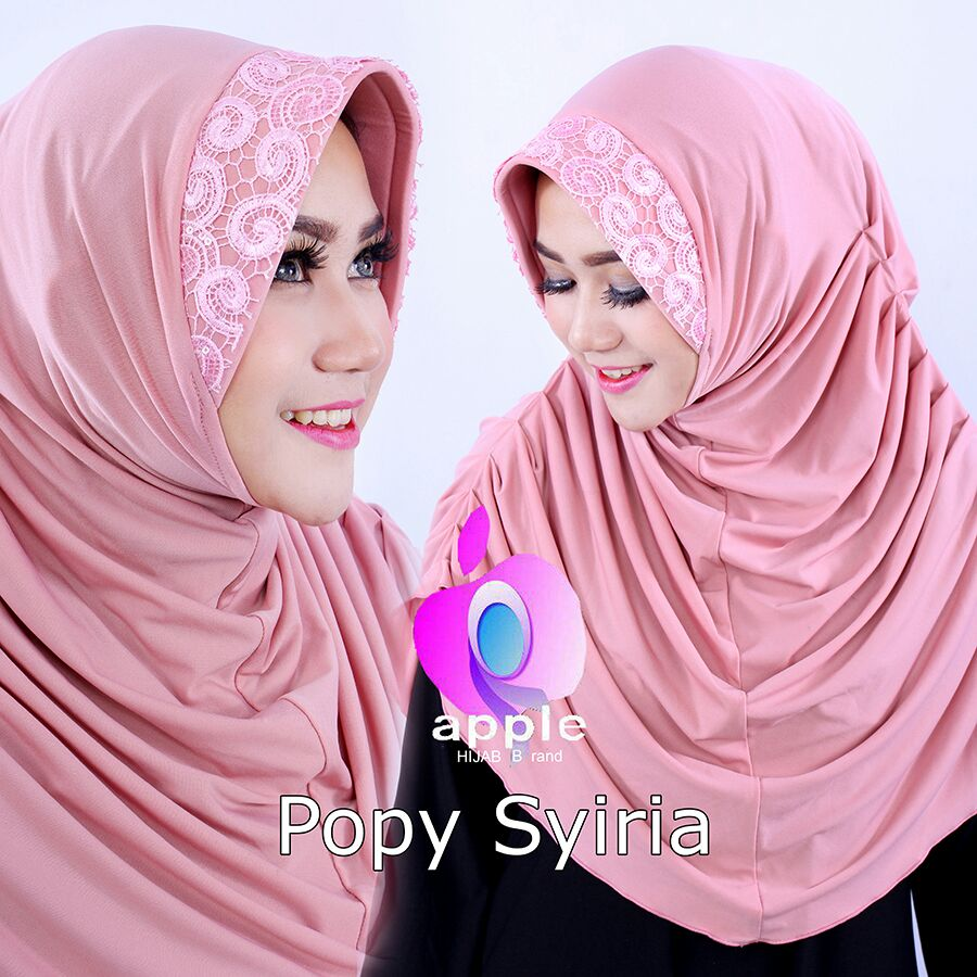 Popy Syiria by Apple hijab peach