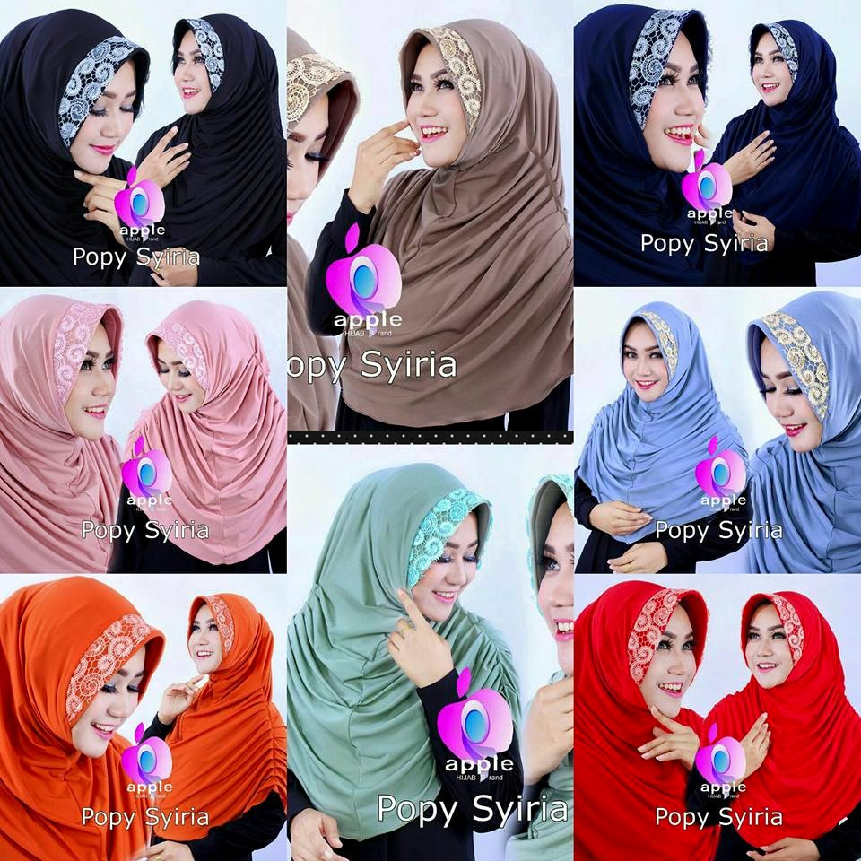 Popy Syiria by Apple hijab seri warna