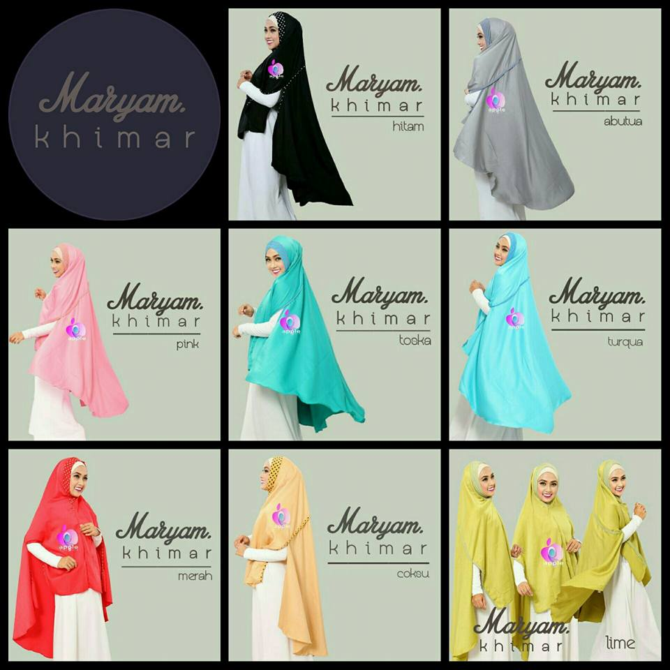 apple hijab khimar maryam