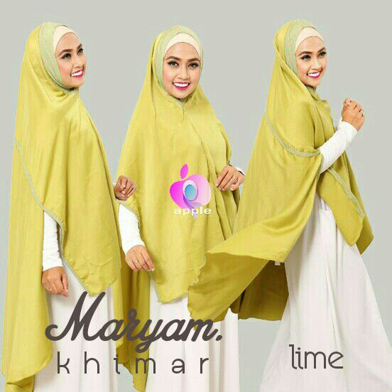 apple hijab khimar maryam lime