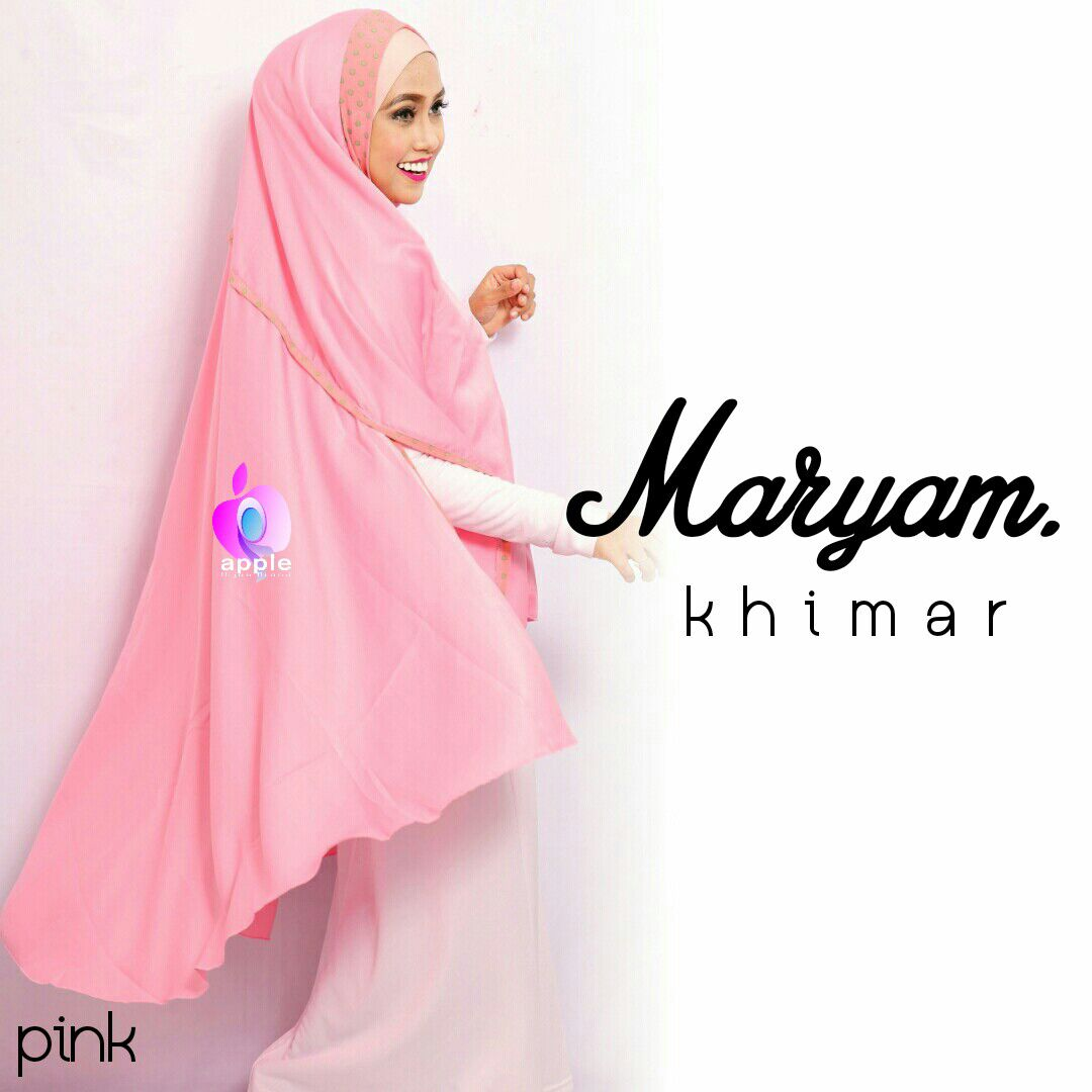 apple hijab khimar maryam pink