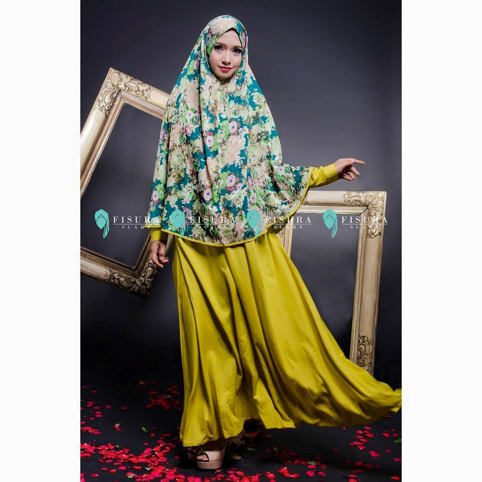 fisura scarft gamis shafana lime