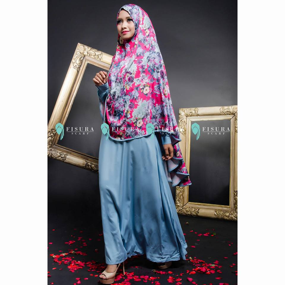 fisura scarft gamis shafana turqis