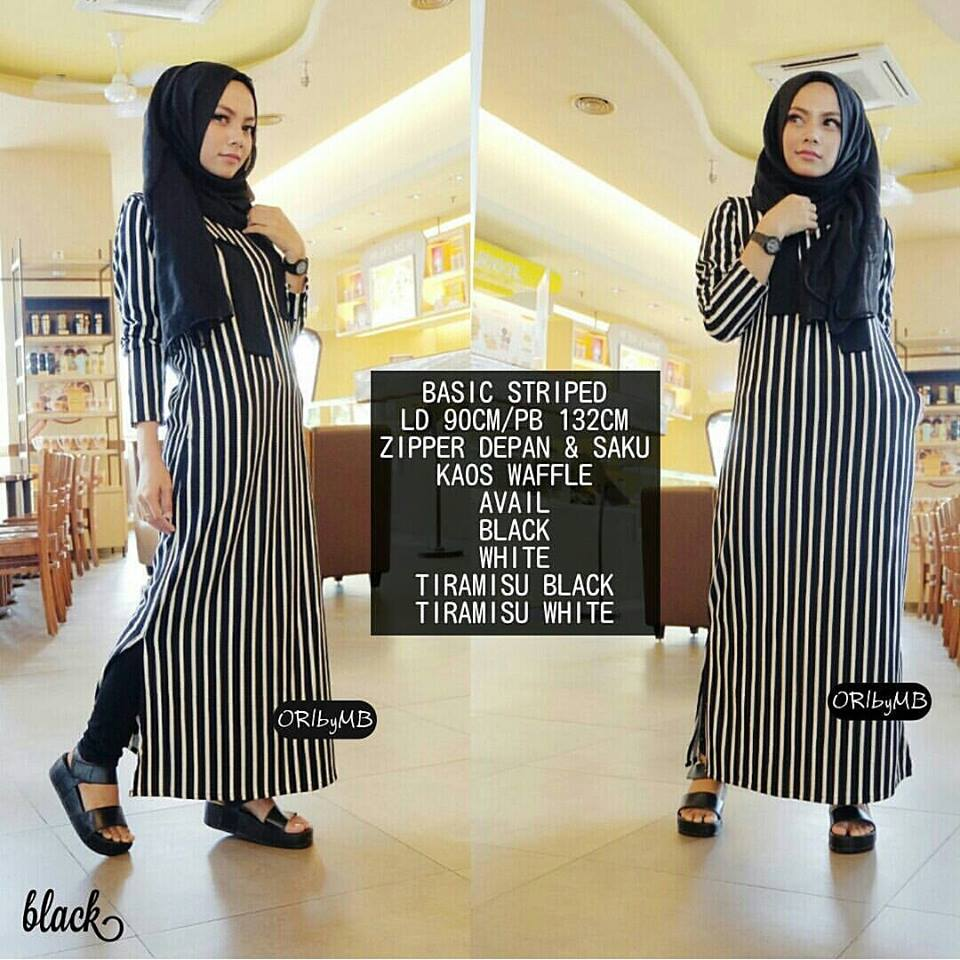 basic stripe hitam