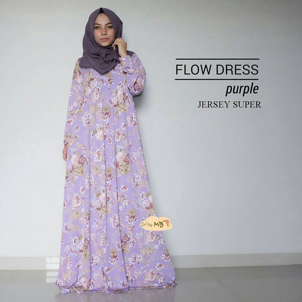 flow dress ungu