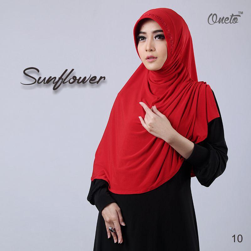 sunflower merah