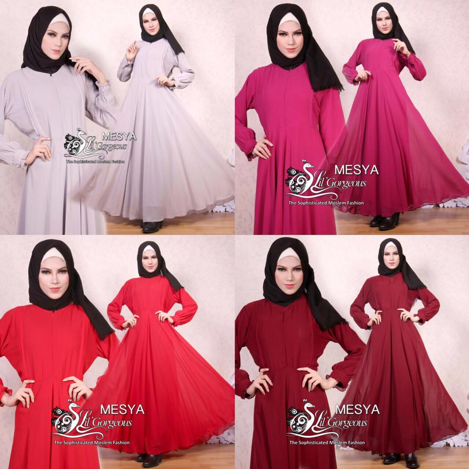 Gamis Lil Basic Ceruty Polos By Lil Gorgeous 1