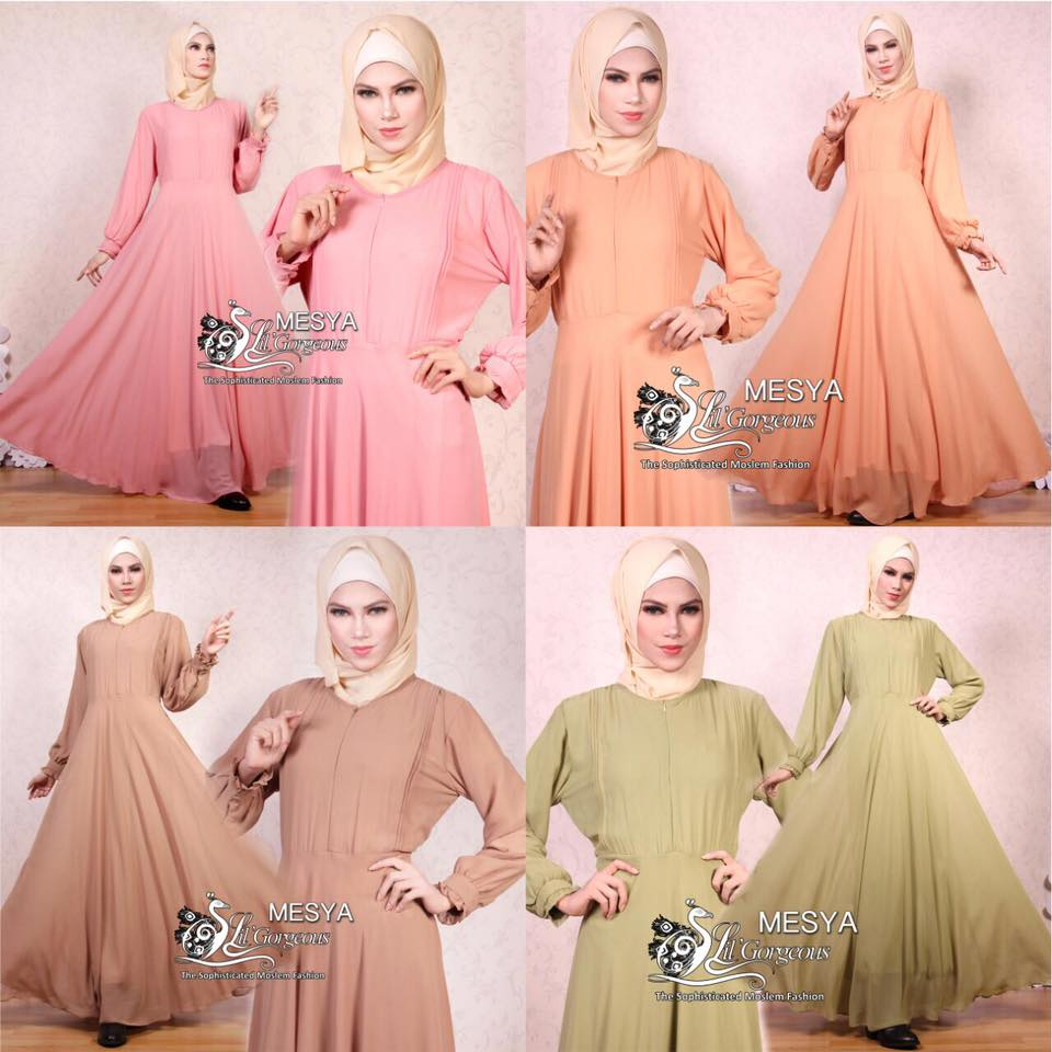 Gamis Lil Basic Ceruty Polos By Lil Gorgeous 2