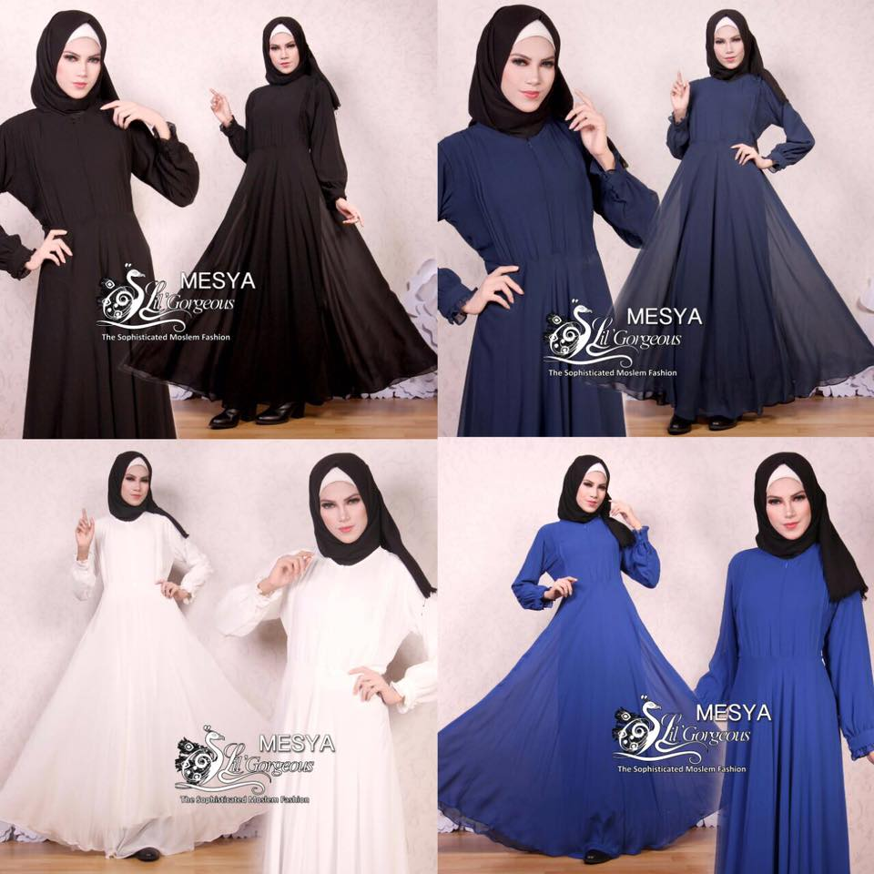 Gamis Lil Basic Ceruty Polos By Lil Gorgeous 3
