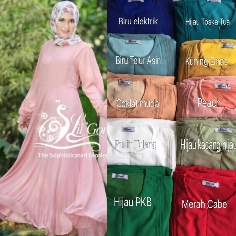 Gamis Lil Basic Ceruty Polos By Lil Gorgeous 4