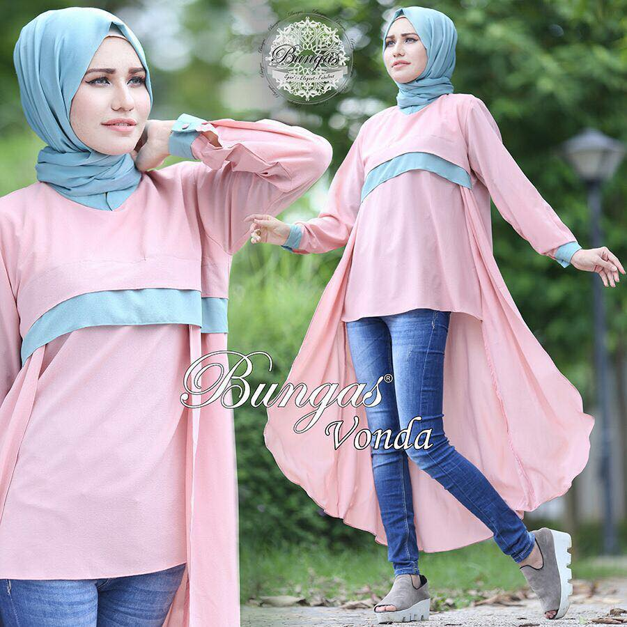 Vonda Tunik by Bungas peach