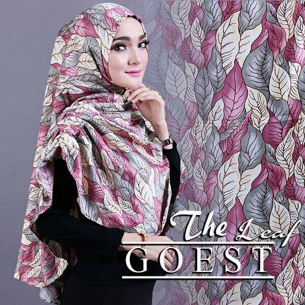 The leaf khimar by goest pink