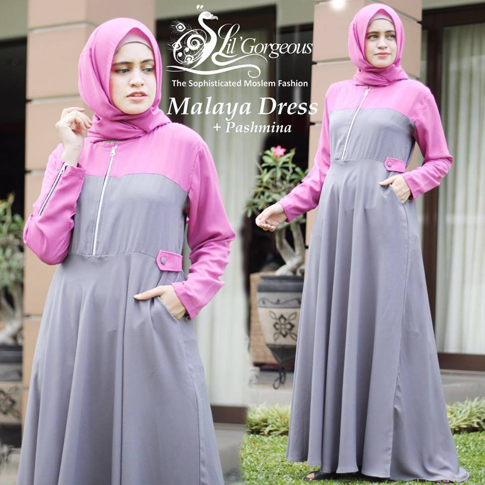 malaya dress by lil georgious abu pink