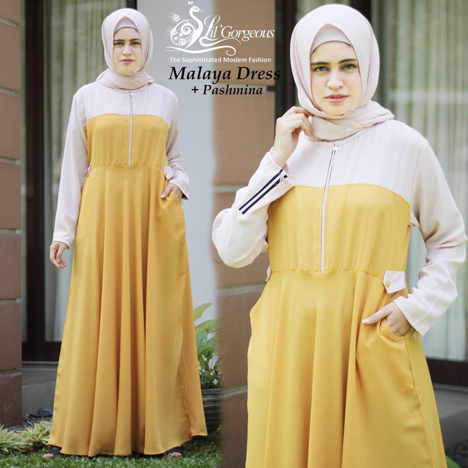 malaya dress by lil georgious kuning