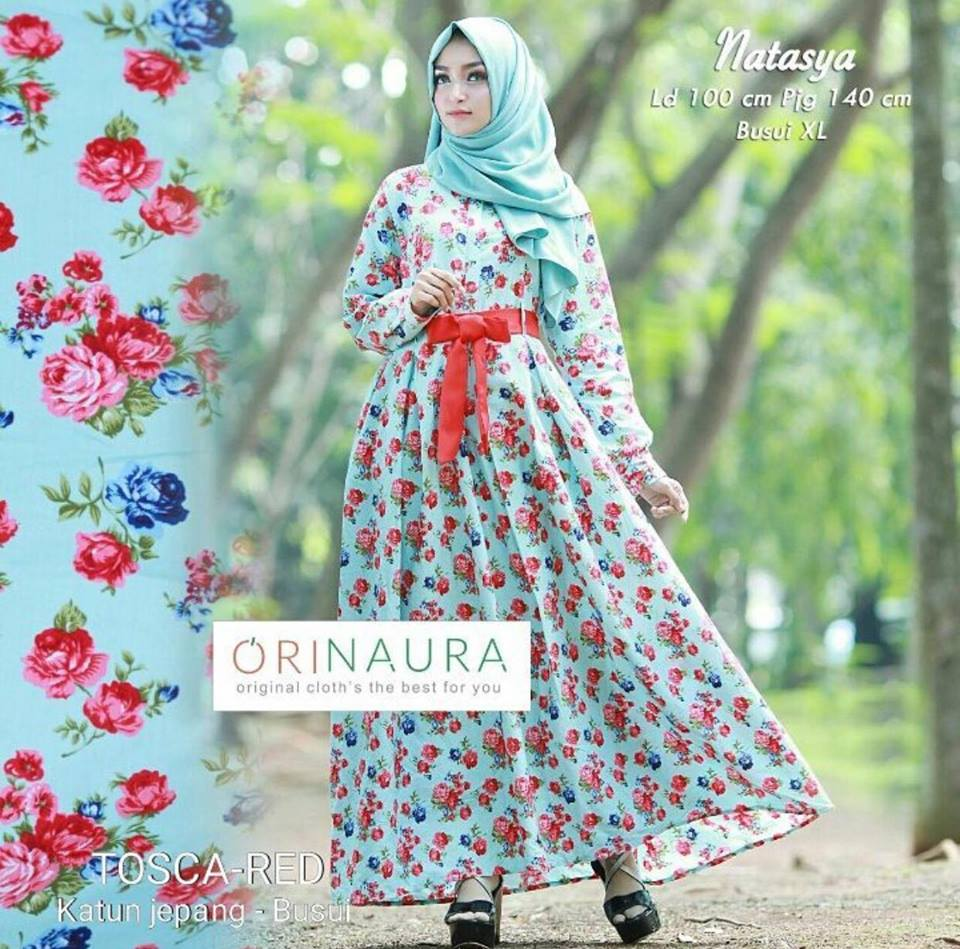 natasya dress toska-red