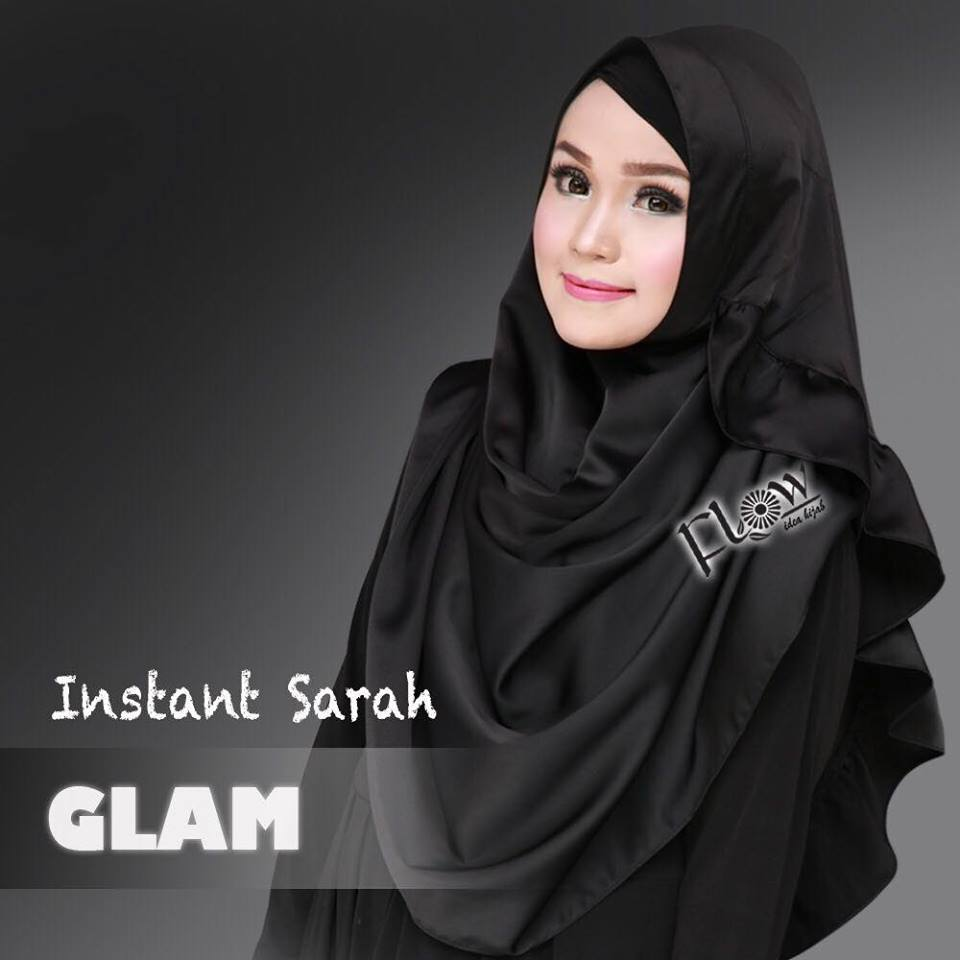 instant sarah glam by flow - hitam