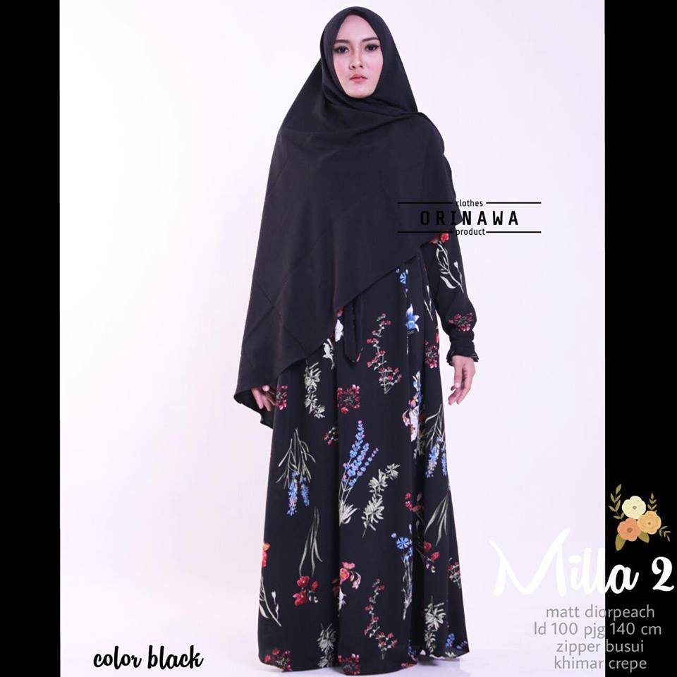 Mila Dress by Ori Nawa hitam