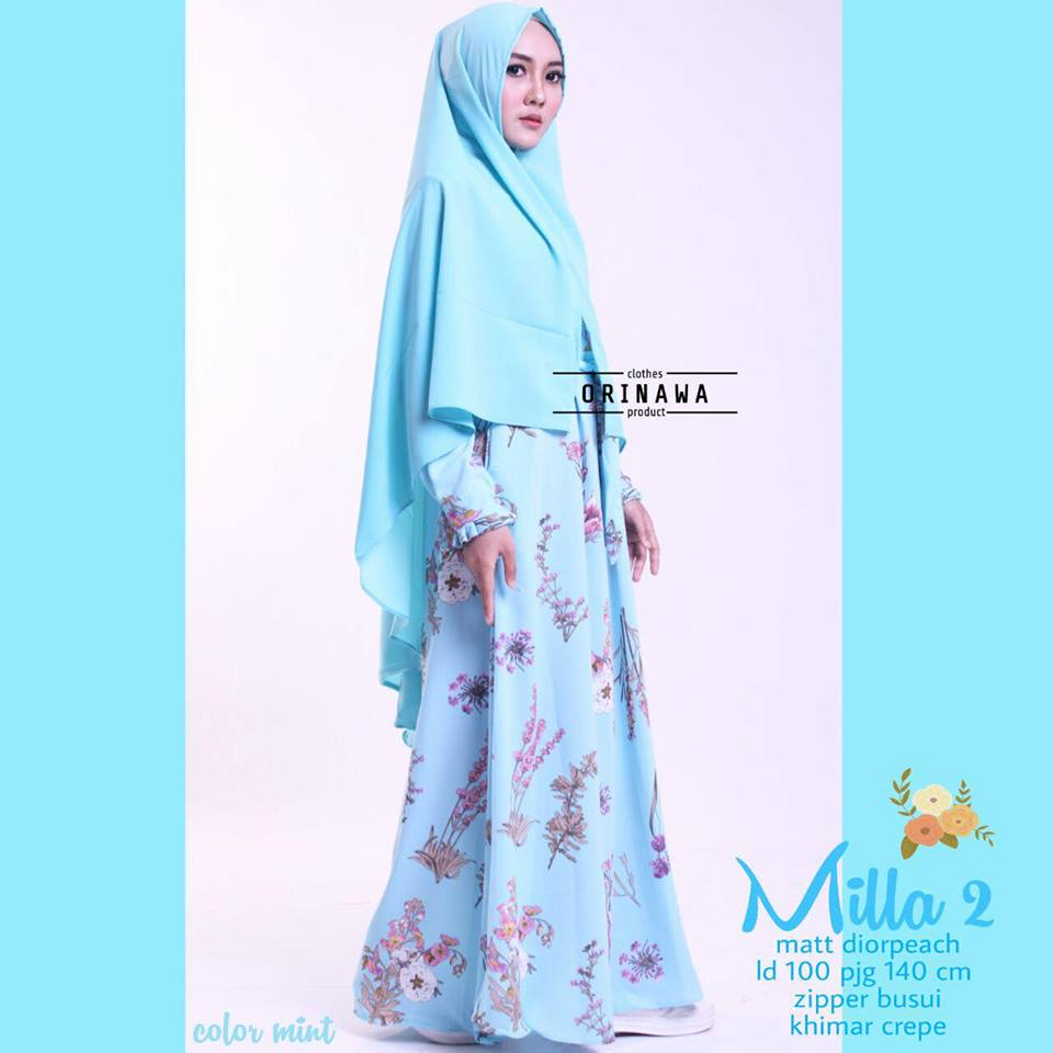 Mila Dress by Ori Nawa mint