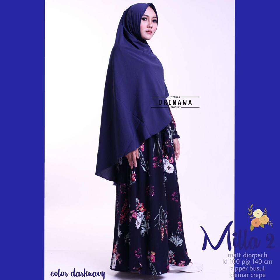 Mila Dress by Ori Nawa navy