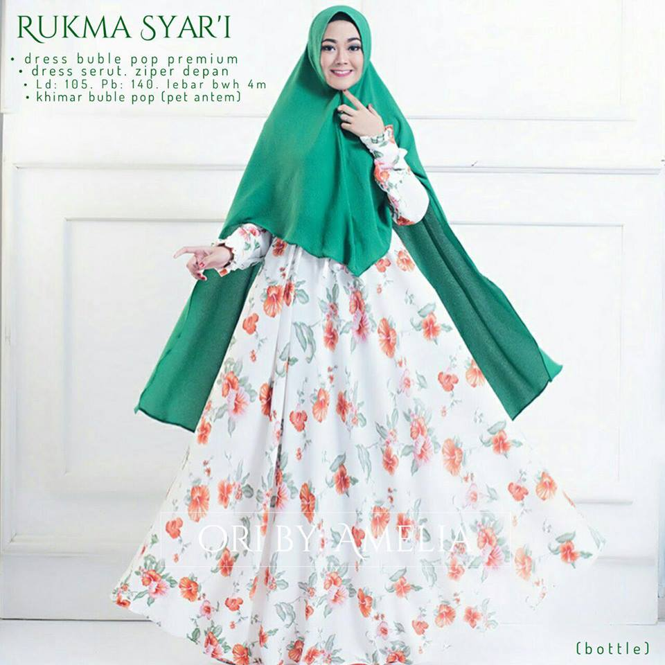 Rukhma syar'i by amelia red botle