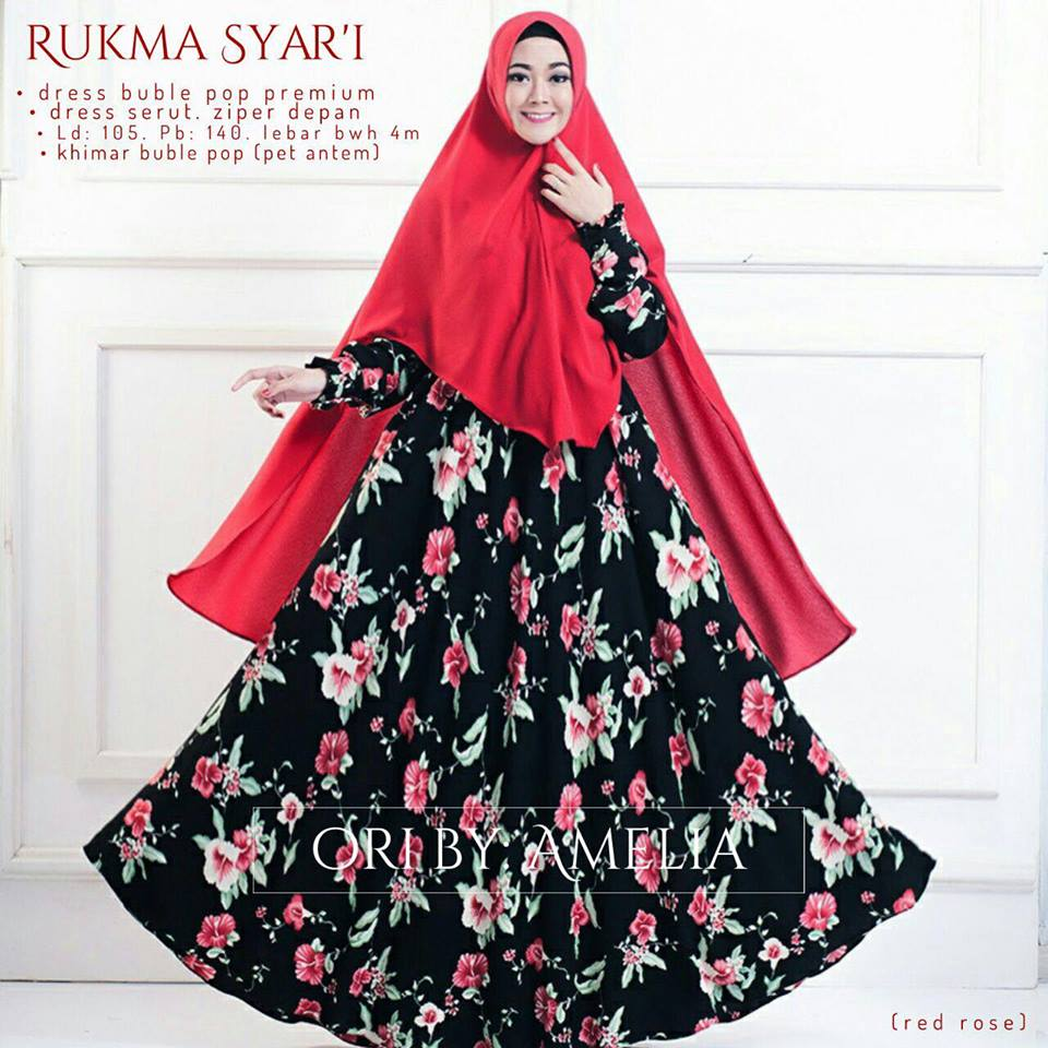Rukhma syar'i by amelia red rose