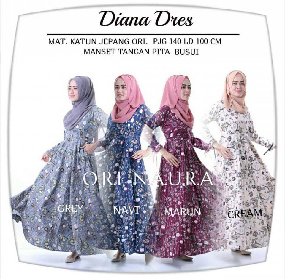diana dress ori naura seri