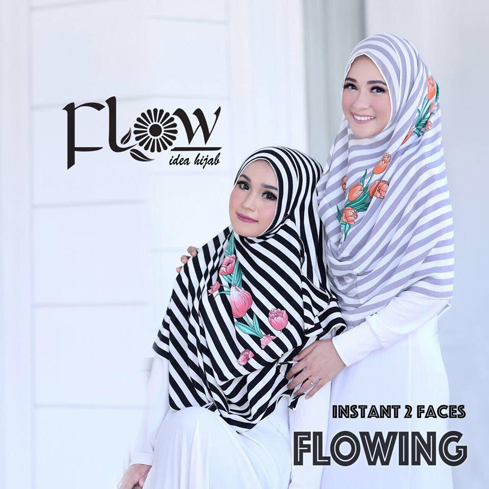 flowing instan 2face stripe abu ft hitam