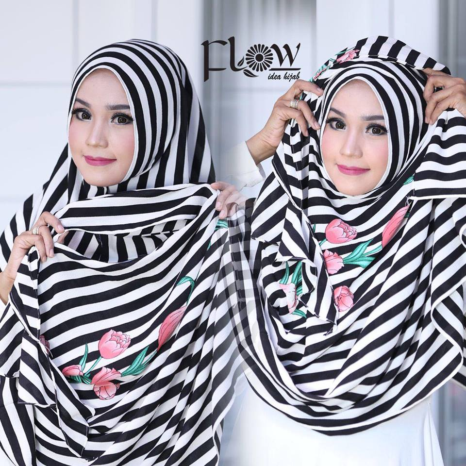 flowing instan 2face stripe hitam