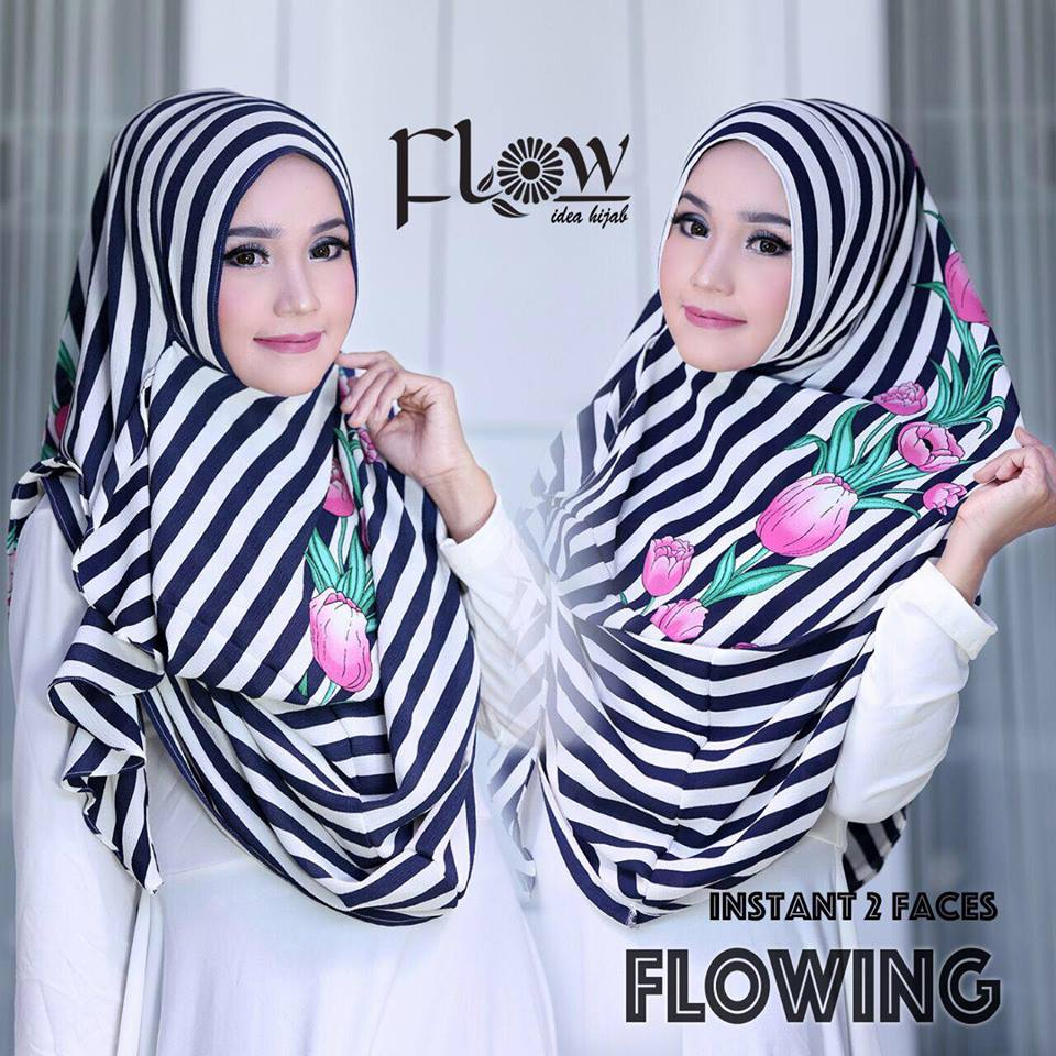 flowing instan 2face stripe navy