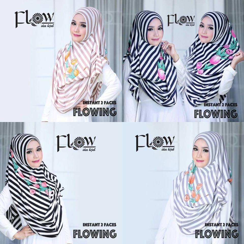 flowing instan 2face stripe serian