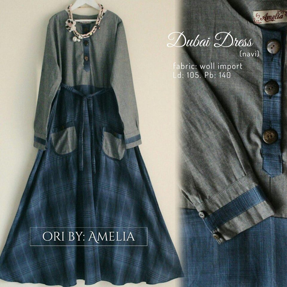 Dubai dress by Amelia biru