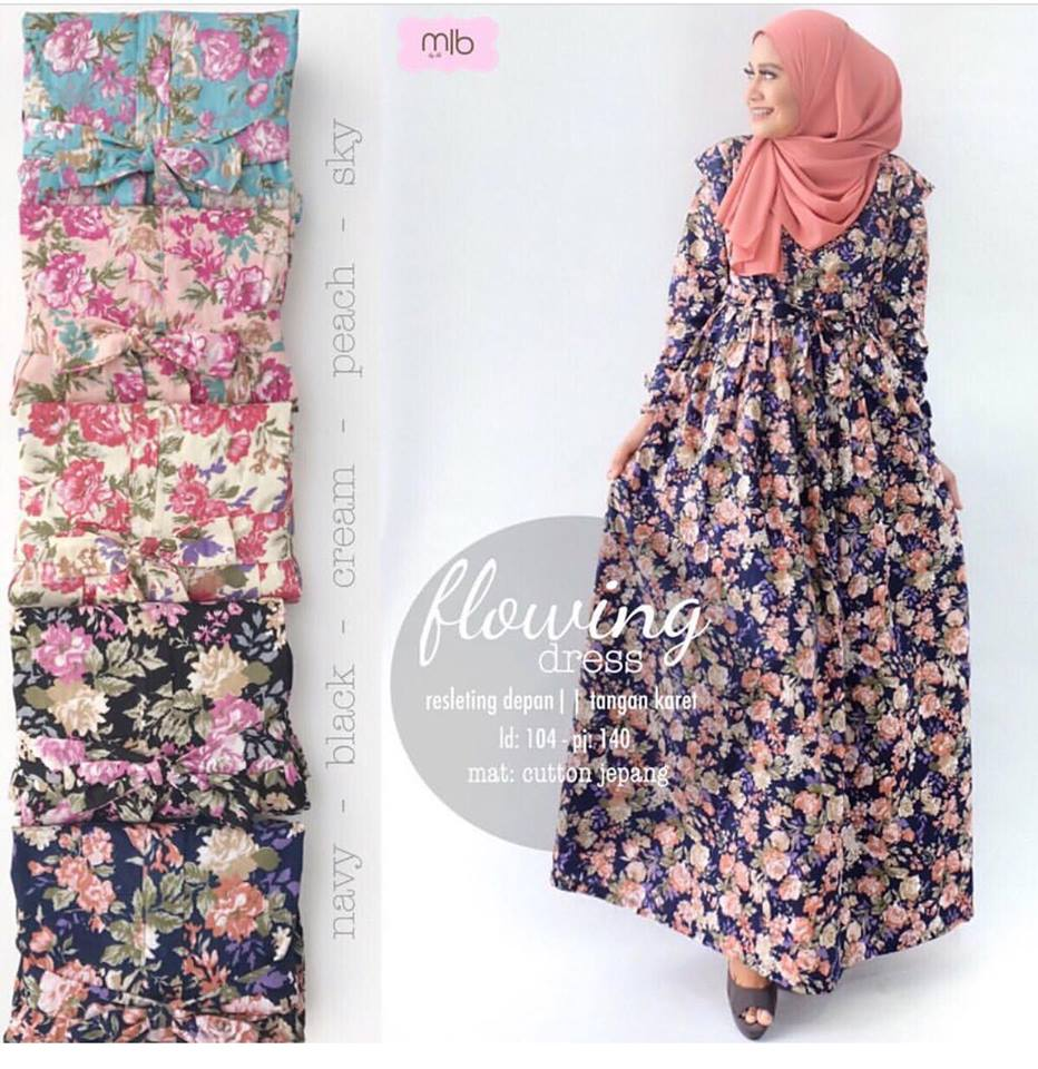 Flowing dress by mlb navy