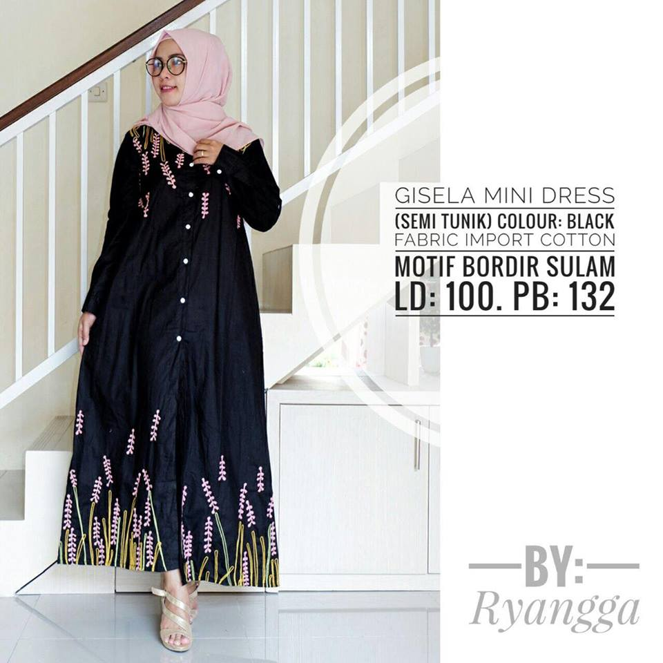 Gisela mini Dress by Ryangga black