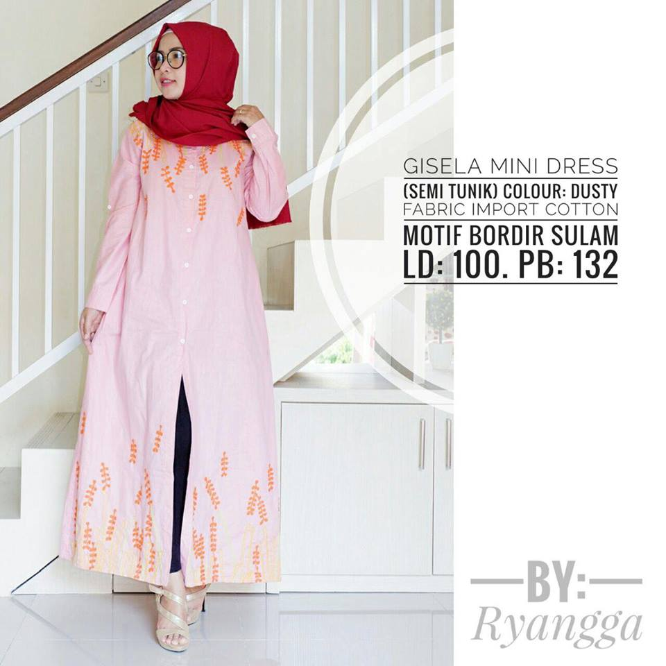 Gisela mini Dress by Ryangga dusty