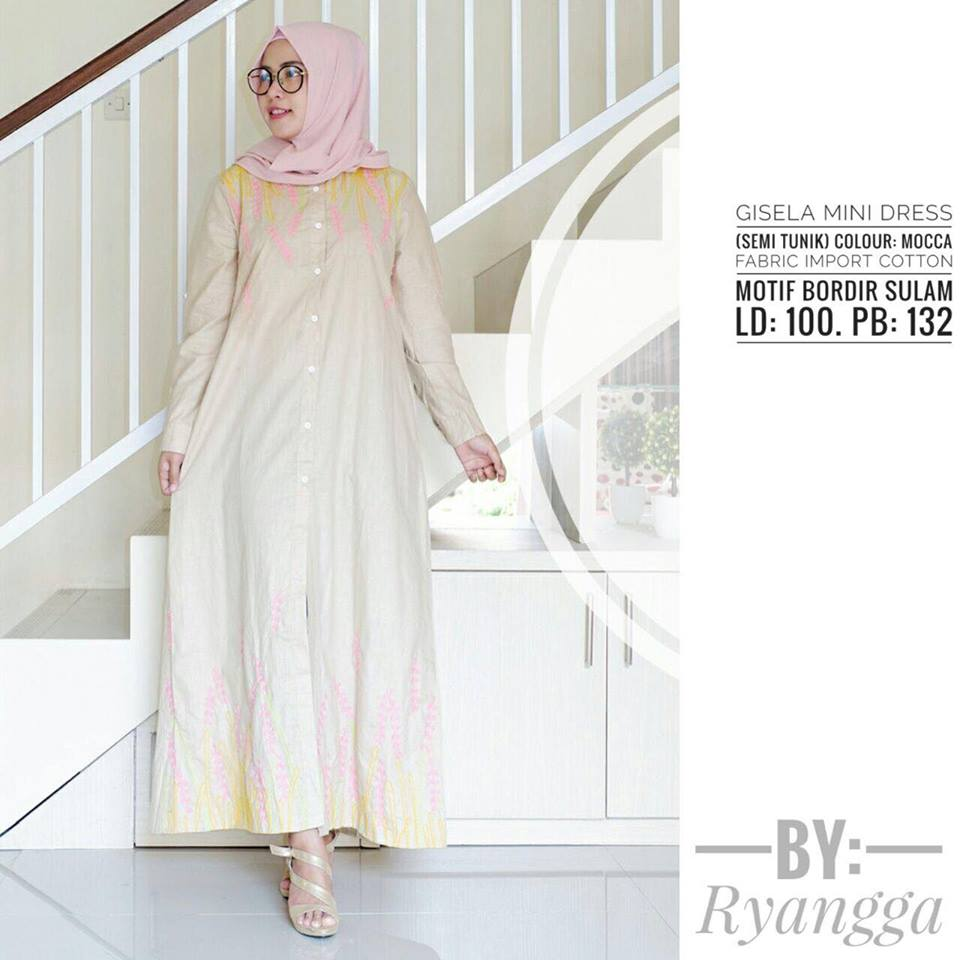 Gisela mini Dress by Ryangga mocca