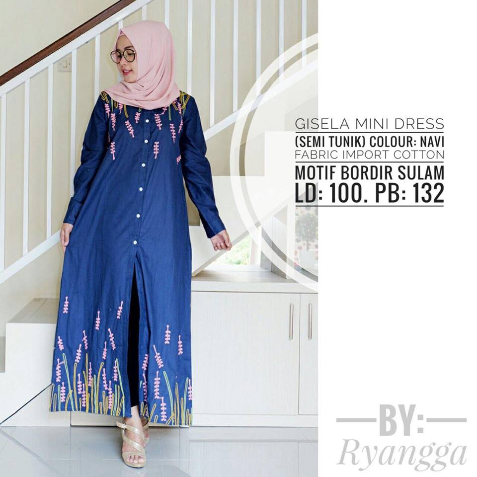 Gisela mini Dress by Ryangga navy