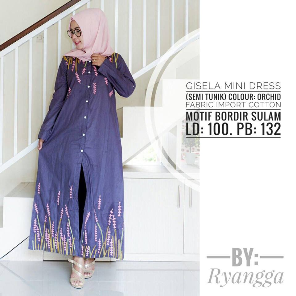 Gisela mini Dress by Ryangga orchid