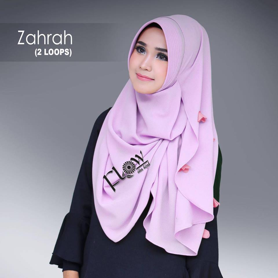 Instant hijab from FLOW idea hijab ZAHRAH babby lavender