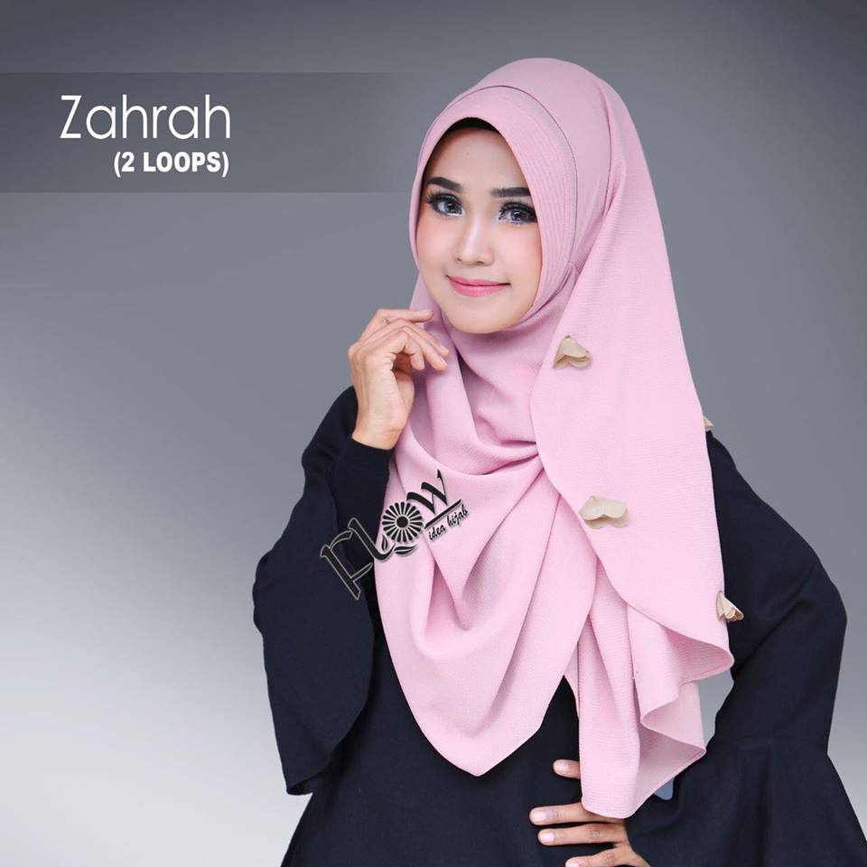 Instant hijab from FLOW idea hijab ZAHRAH baby pink