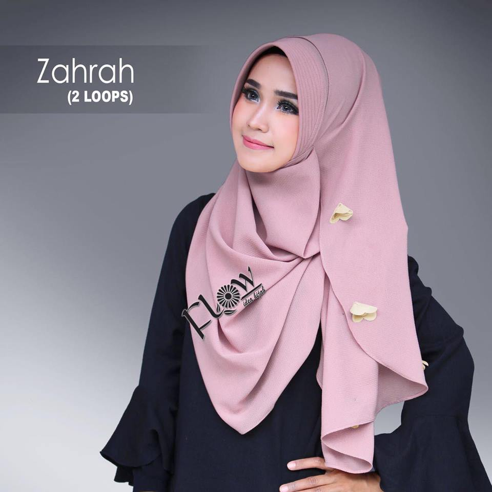 Instant hijab from FLOW idea hijab ZAHRAH rosi brown