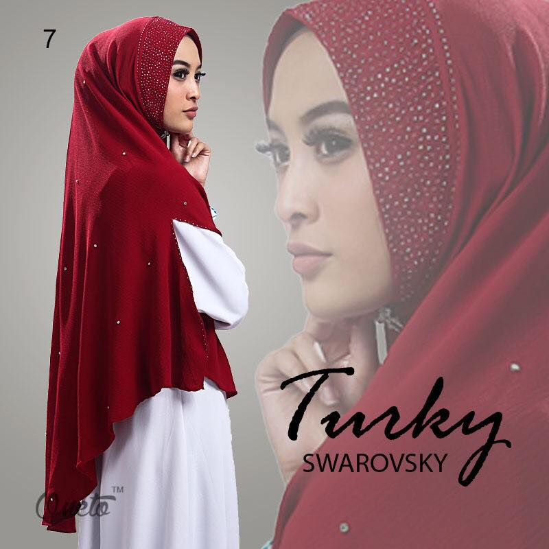 Khimar Turkey Swarosky by oneto Maroon