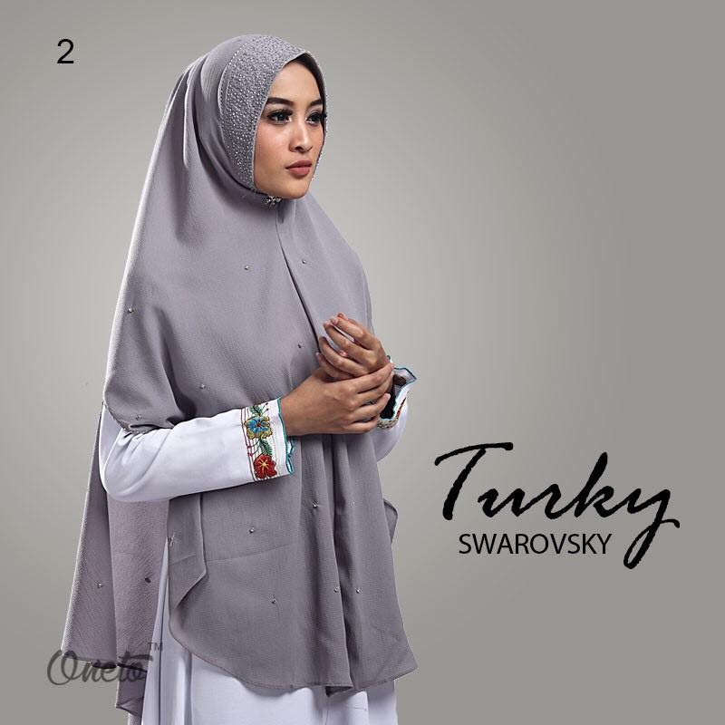 Khimar Turkey Swarosky by oneto abu