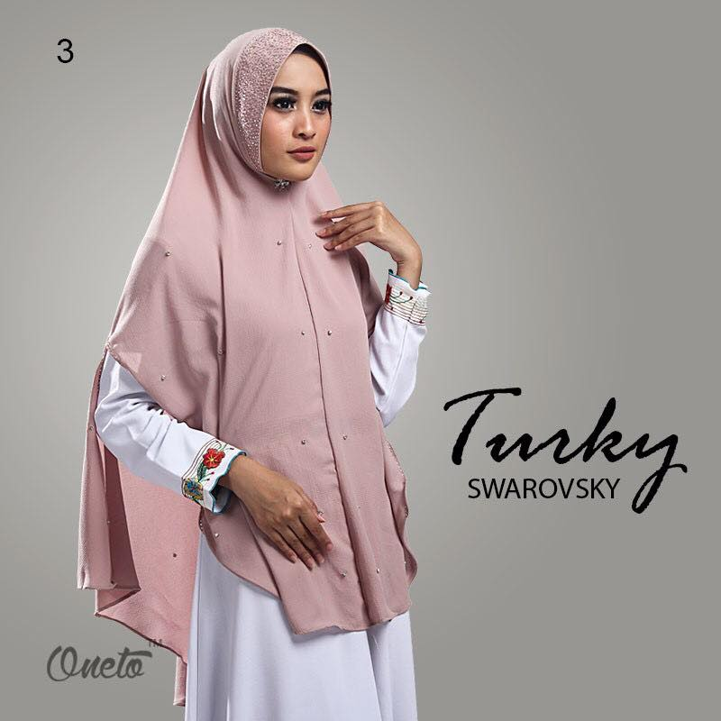 Khimar Turkey Swarosky by oneto pink